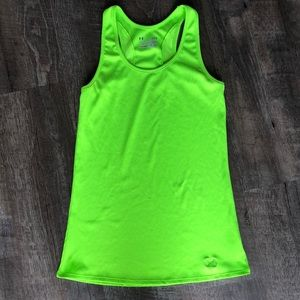 Under Armour victory tank neon green